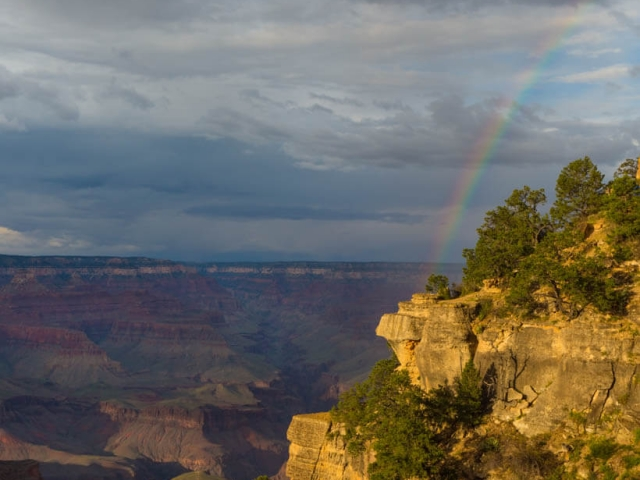 Grand Canyon regenbogen